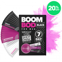 Boombod Mens 7 Day Weight Loss Shots - 20% Off Black Cherry